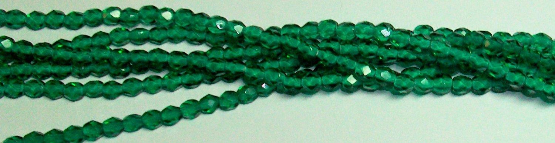 Light Emerald Czech Firepolish 4mm