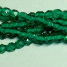 Light Emerald Czech Firepolish 4mm