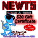 $20 Gift Certificate - Newt's Pizza and Subs