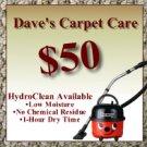 $50 Certificate - Dave's Carpet Care