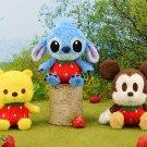 NEW! Disney Sega Strawberry Noco Noco Stitch Plush