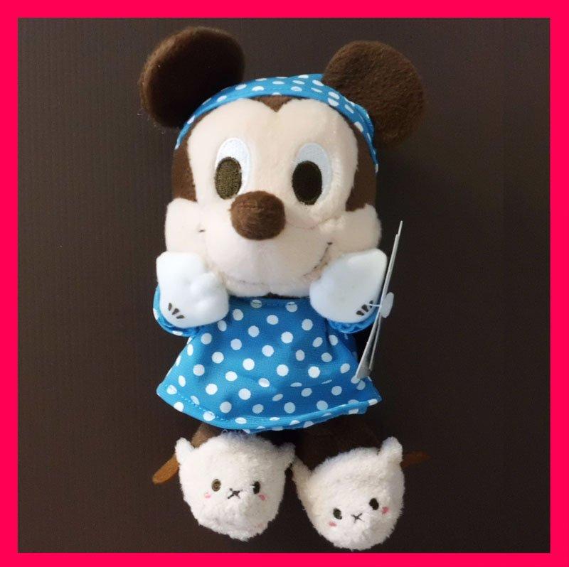 NEW! Disney Sega Mickey in Pyjamas & Sheep Bedroom Slippers Plush