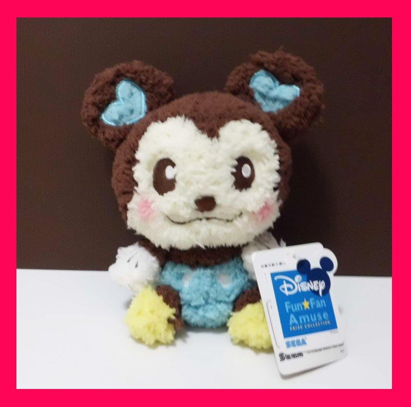 NEW! Disney Sega Marshmallow Hearts Blue Mickey Plush