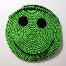 NEW! Handmade Crochet Colorful Smiley Sling Bag (Green)