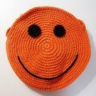 NEW! Handmade Crochet Colorful Smiley Sling Bag (Orange)
