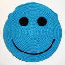 NEW! Handmade Crochet Colorful Smiley Sling Bag (Blue)