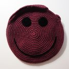 NEW! Handmade Crochet Colorful Smiley Sling Bag (Maroon)
