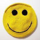NEW! Handmade Crochet Colorful Smiley Sling Bag (Yellow)