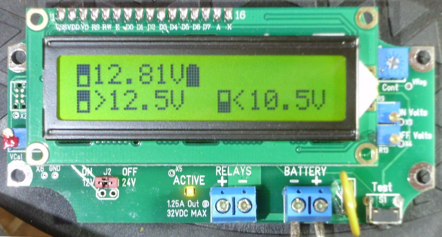 Relay Voltage Triggered Load Controller �With Out/NO DELAYS� LVD HVD 1URVTLC-1224-BSD Green LCD
