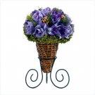 Silk Lavender Roses Display