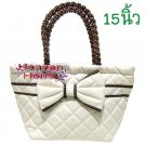 Naraya White Handmade Handbag/Tote/Purse/Bag - 448