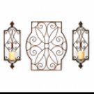 Scrollwork Wall Sconce Trio Set