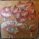 Lotus ,Acrylic and Gold Foil Hand painted Canvas A - 32