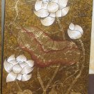 Lotus Hand painted on Canvas A - 22