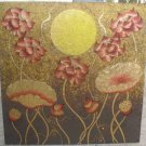 Lotus,Handpainted Acrylic With Gold Foil on Canvas A - 18