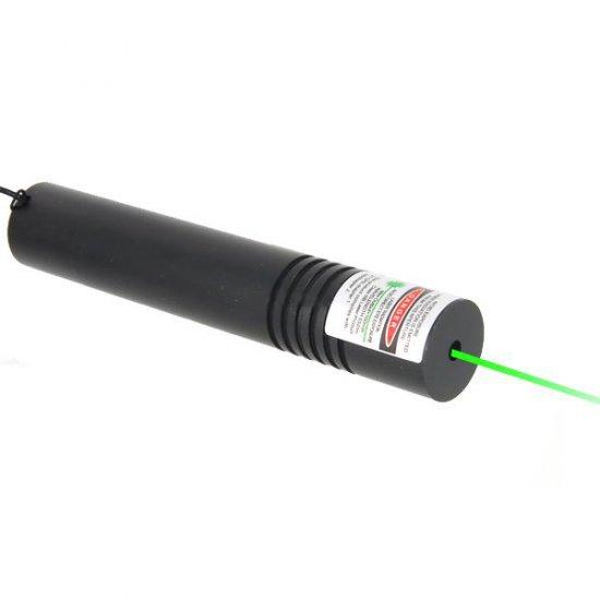 100mW 532nm Green Laser Pointer Pen Black