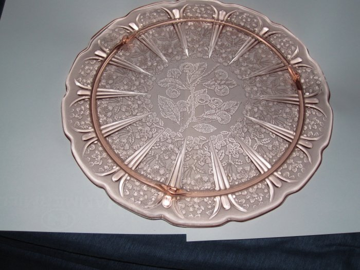 Pink Depression Plate -10in - Mint Cond.