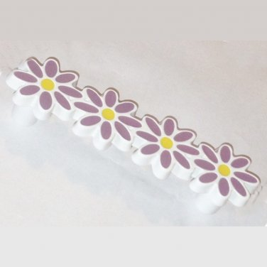 Liberty Hardware Daisy Drawer Pull/Handle- Purple/Lavender NEW NIP