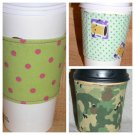 EC0-FRIENDLY Re-Usable Fabric Coffee/Tea CUP COZY/COZI