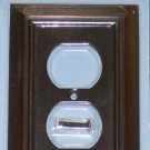Liberty Hardware-Brainerd Architectural Single Duplex Wall Plate Outlet-Venetian Bronze