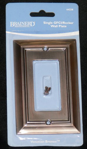 Liberty Hardware-Brainerd Architectural Single Rocker Wall Plate-Venetian Bronze