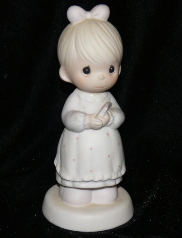 Precious Moments 1989 Collectible Figurine THE GOOD LORD ALWAYS DELIVERS #523453