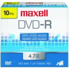 Maxell DVD-R 16X  4.7 GB media (10/Pack) 25% OFF