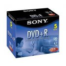 Sony DVD+R 4.7 GB (5/Pack) 25%OFF