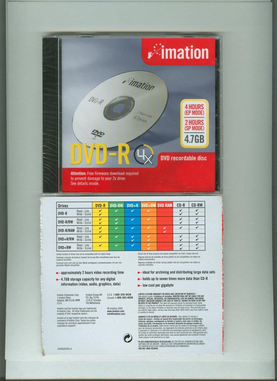 Imation DVD-R 4.7 GB 5112216637 (1/Ea) 20% OFF