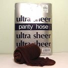 Coffee Ultra Sheer Regular Size Pantyhose 727R