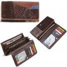 Embassy Ladies Italian Stone Design Leather Wallet with Snap Closure