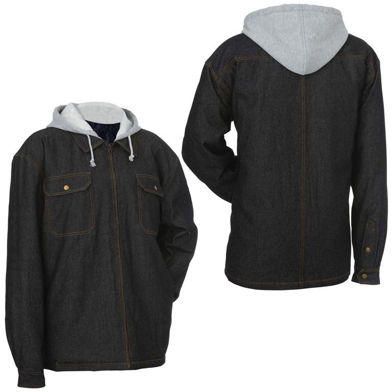 Casual Outfitters Black Denim Jacket with Hood - Size XLarge