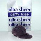Charcoal Grey Ultra Sheer Regular Size Pantyhose 753R