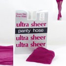 Fuchsia Ultra Sheer Queen Size Pantyhose 768Q