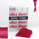 Red Ultra Sheer Queen Size Pantyhose 734Q