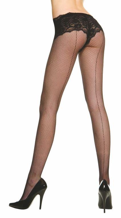 Music Legs -  Regular Size  Sheer Fishnet Backseam P/H