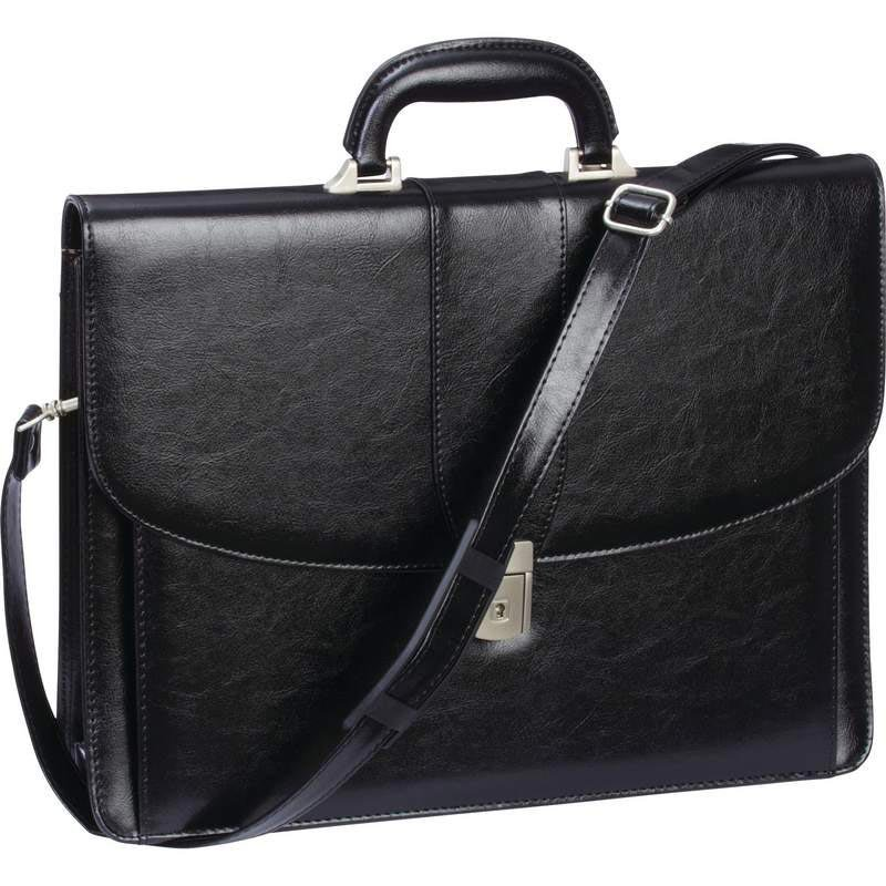 Embassy Hinged Handle Expandable Attaché Case with Slide-Lock Closure 25% OFF