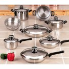 Chef's Secret 14pc 12-Element T304 Stainless Steel Cookware Set
