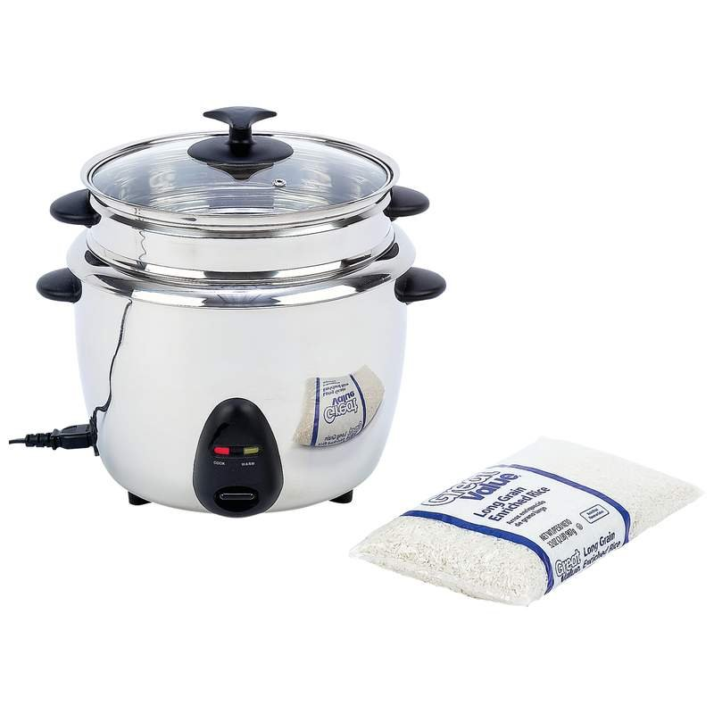 Precise Heat 1.9qt (1.8L) Stainless Steel Rice Cooker