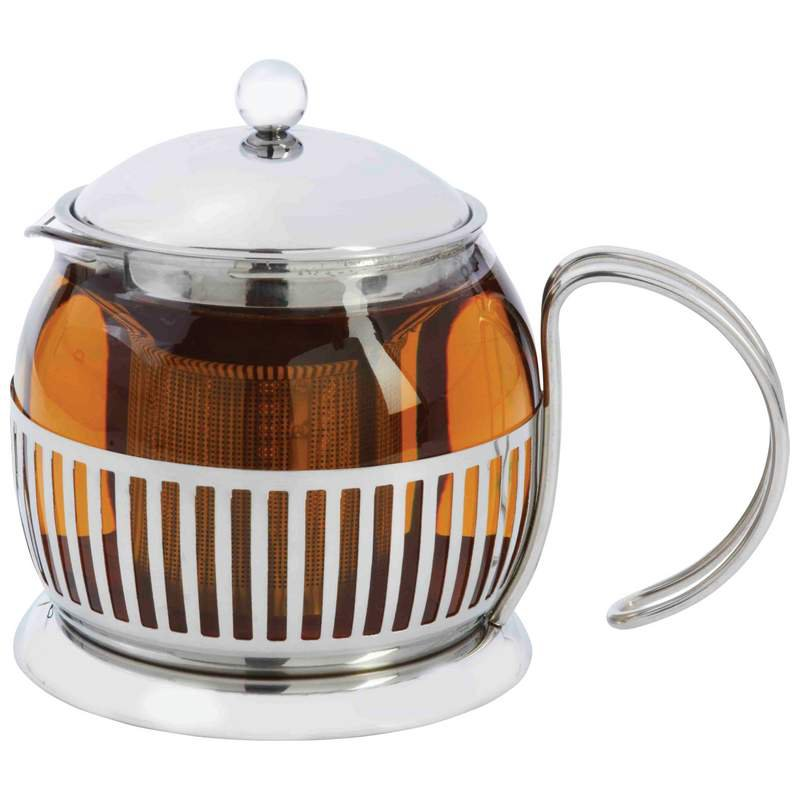 Wyndham House 1.3qt Stainless Steel and Glass Tea Maker