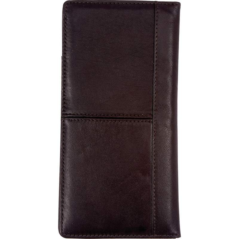 Embassy Solid Leather Brown Passport Cover Room for License and Cards