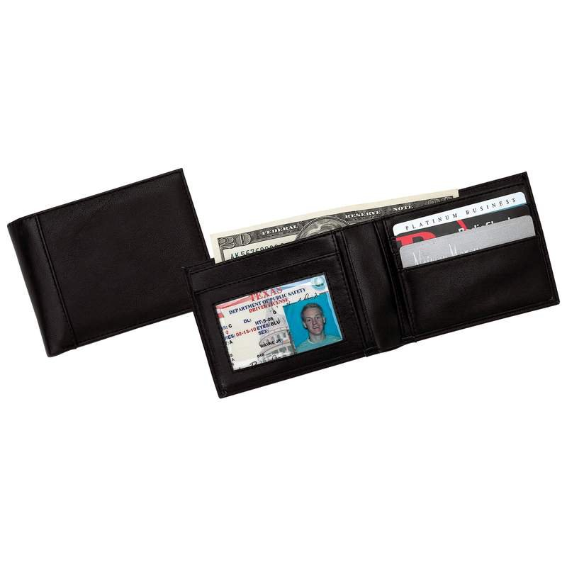 Embassy Men's Solid Leather Bi-Fold Wallet with Card and Bill Space