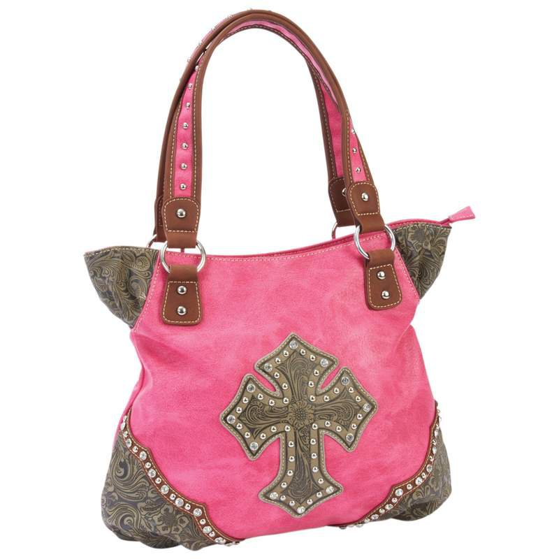 Casual Outfitters Western-Style Cross Purse with Paisley Trim