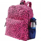 Extreme Pak Cotton Canvas Neon Pink Leopard Print Backpack