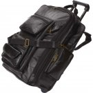 Embassy Italian Stone Design Black Leather Trolley Bag/Backpack