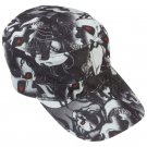 Casual Outfitters Red Eye Skull Design Cap with Adjustable Strap