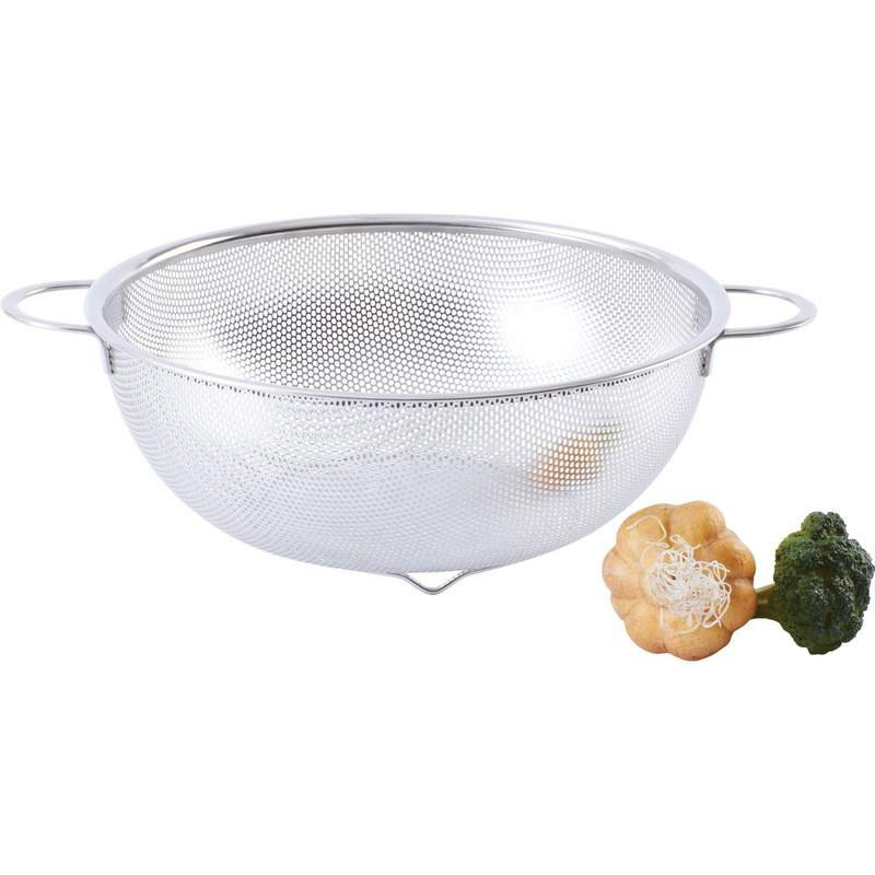 "Chef's Secret Wire-Footed Base 11"" Perforated Stainless Steel Colander"