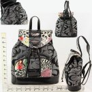 Backpack - Black/Grey CC Print & Various  With Animal Print