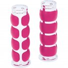 Diamond Plate™ 25mm Pink Universal Motorcycle Replacement Handlebar Grips