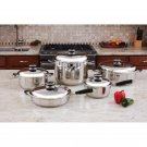 "HealthSmart™ 10pc 12-Element ""Waterless"" Cookware Set"
